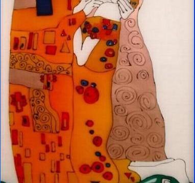 """""""Bacio di Klimt"""" - Decorazione in resina"""